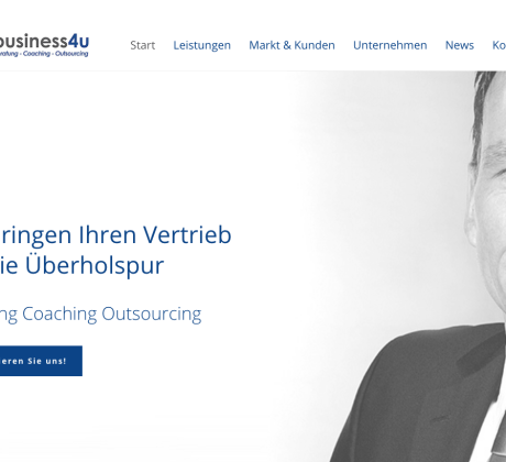Projekt Webseite business4u - Julian Sayer